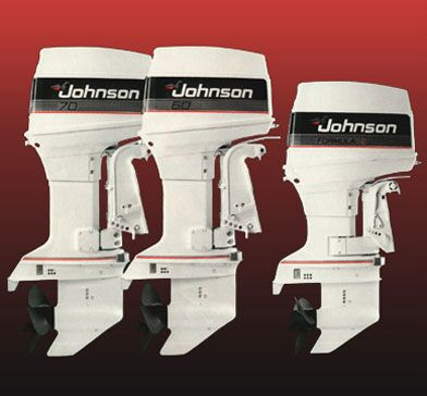 Photo of the graphic design for some of the product line for OMC/Johnson outboard motors.