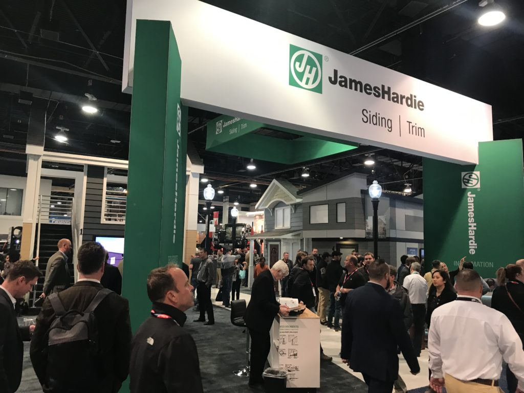 Photo of the front view of display within a large (50' x 60') tradeshow booth at IBS 2019.