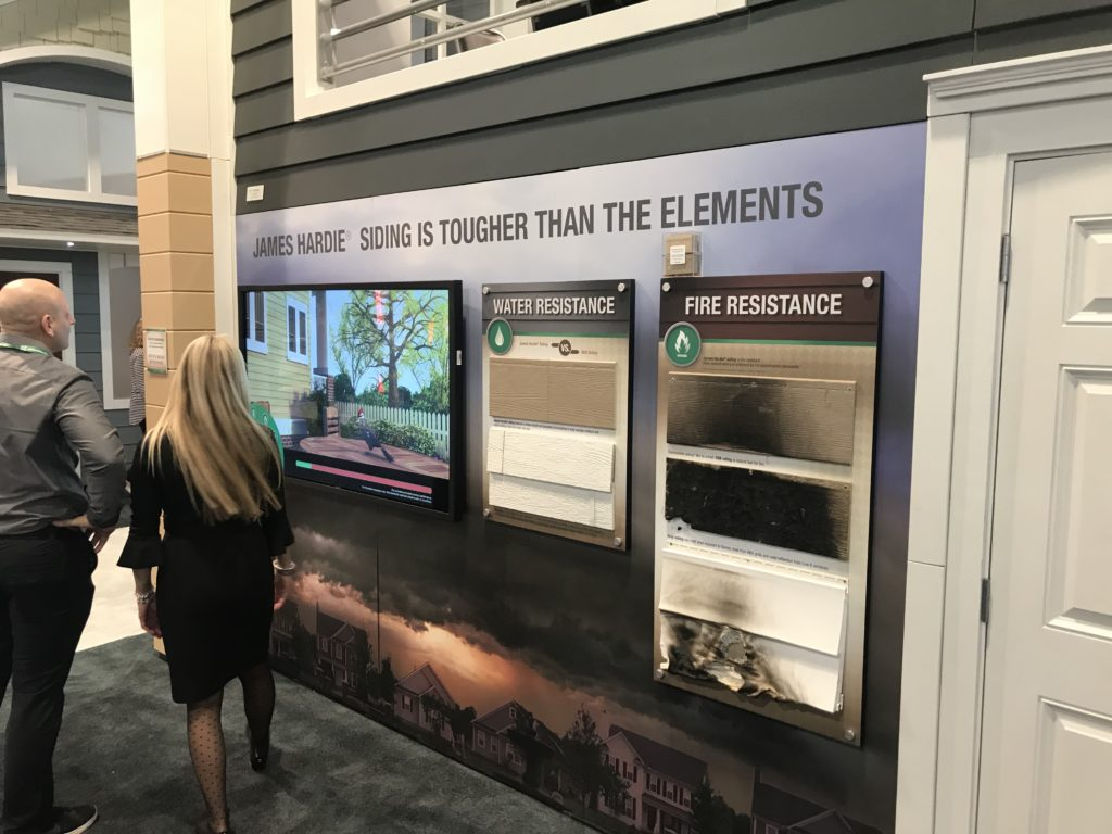 Photo of a display within a large (50' x 60') tradeshow booth at IBS 2019.
