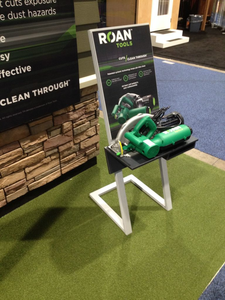 Photo of the Product Display of a new Dust Collecting Saw.