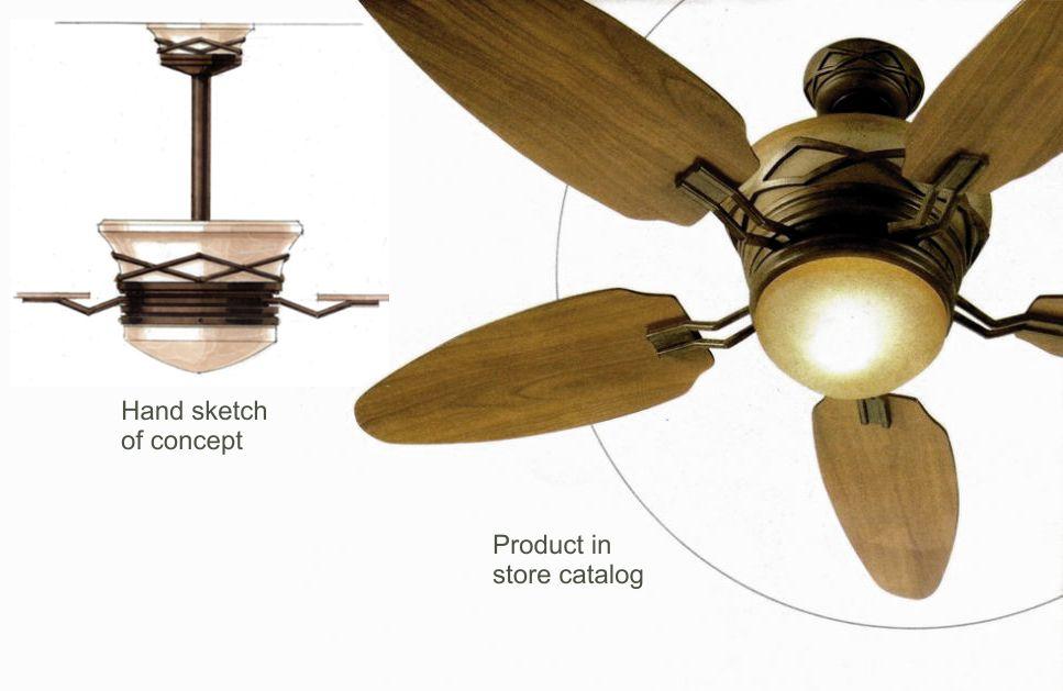 Fan design for established product line sold at Lowes.
