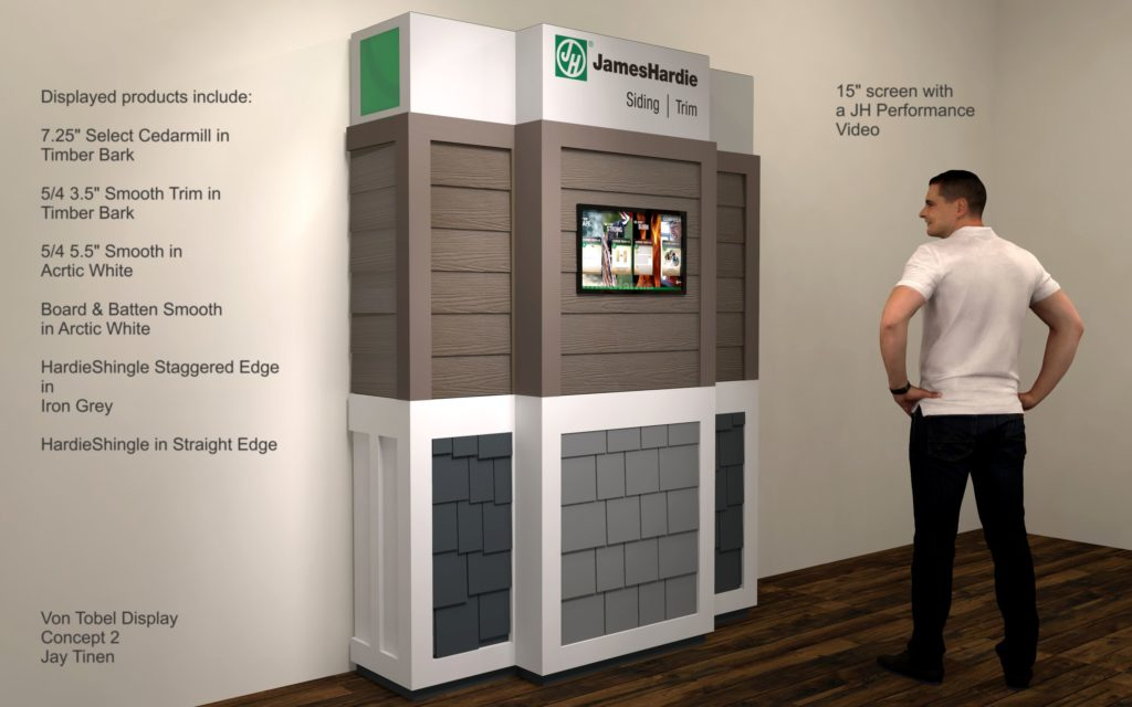 Rendering of Product Display for a specific dealer showroom.