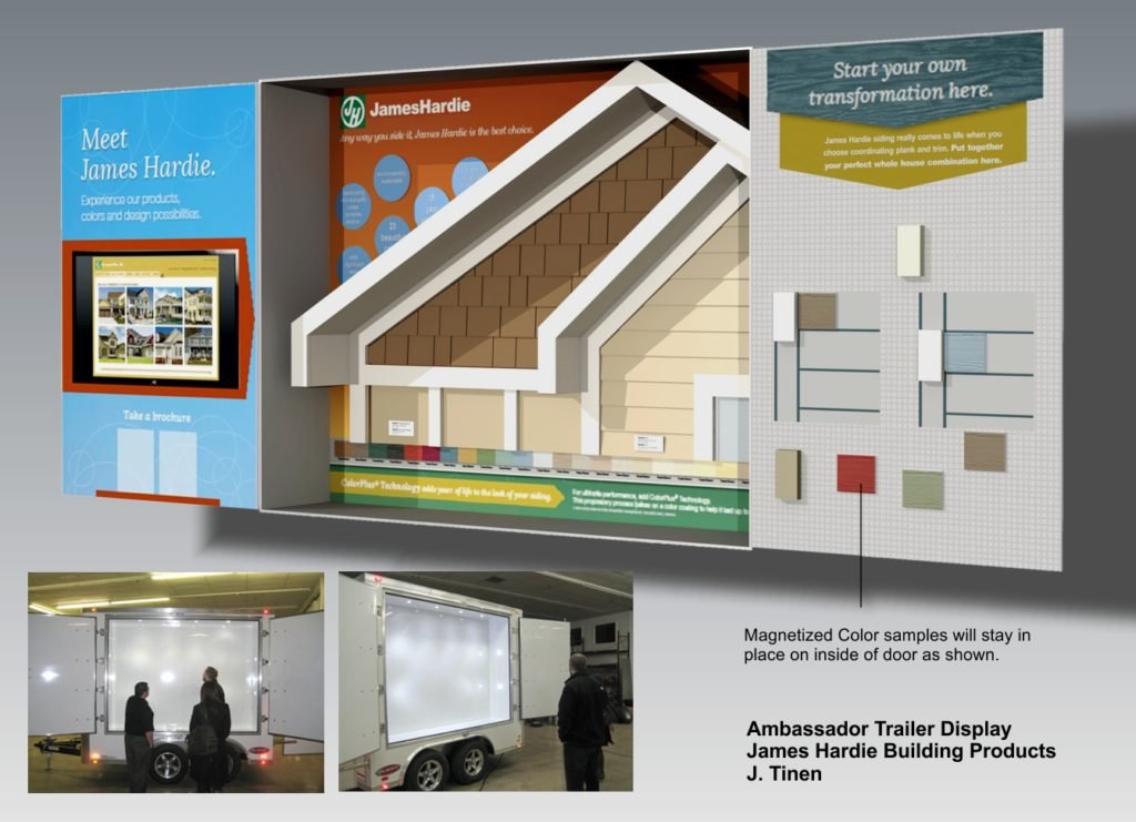Concept rendering of a trailer display for Home Depot.