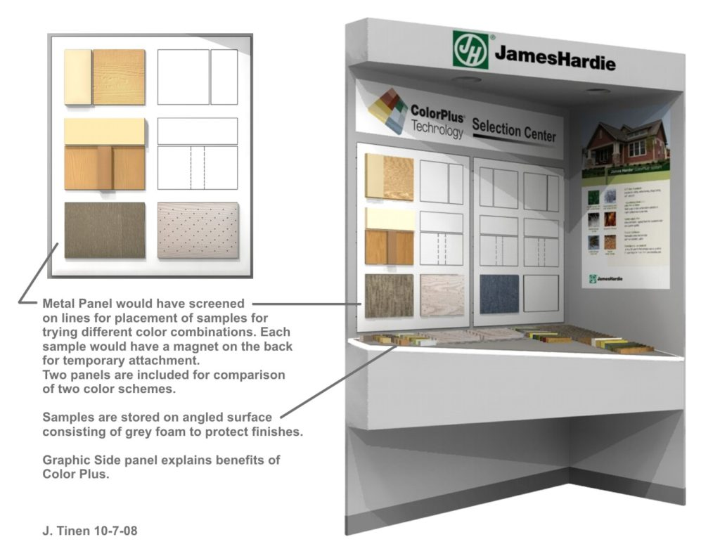 Rendering of a Product Display Concept.