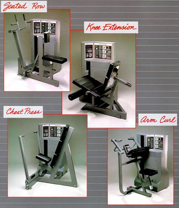 Literature photos of the Electronic weight machines for Life Fitness.