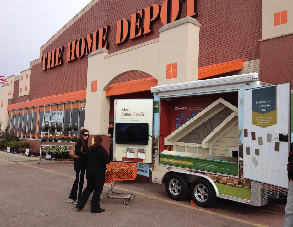 Photo of Mobile Product Display at Home Depot.