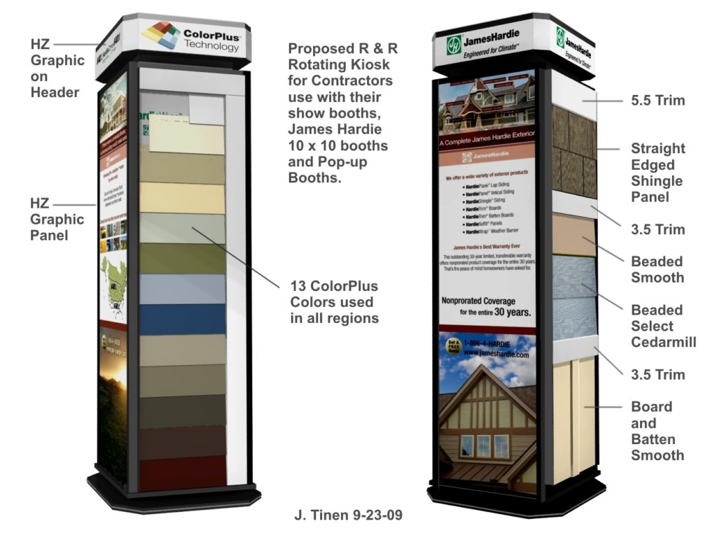 Rendering of Product Display Kiosks built for over 100 dealer showrooms.