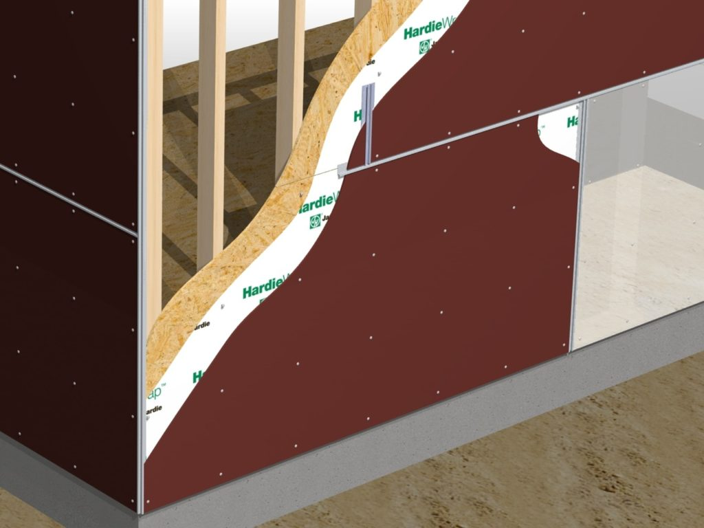 Installation rendering for literature for an Exterior Panel System.