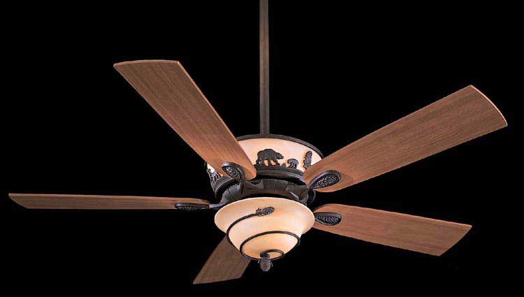 Special edition fan design to create a rustic outdoor theme.