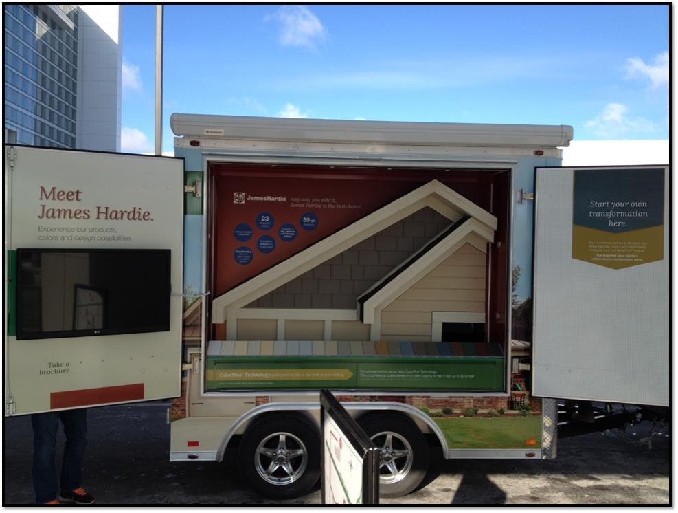 Photo of Mobile Product Display for Home Depot.