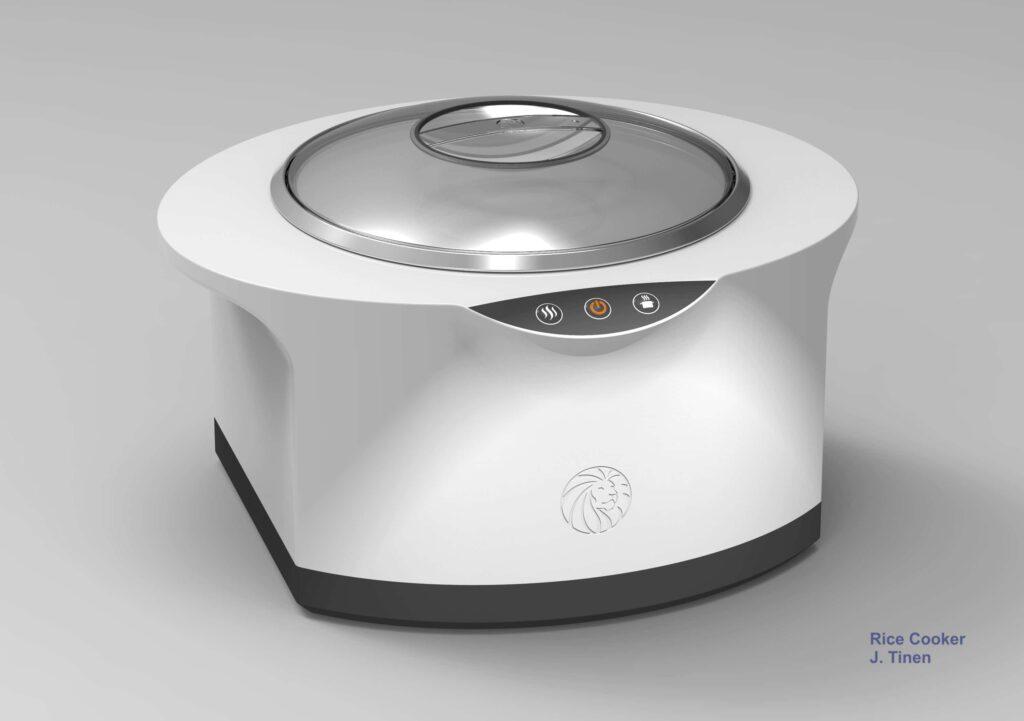 Rice cooker concept rendering