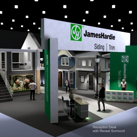 2019 IBS James Hardie Booth Concept
