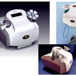Concept Rendering and two photos of the Design of a product that is used for early detection of breast cancer.
