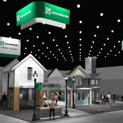 Concept rendering using Solidworks and Keyshot of booth for James Hardie Building Products.