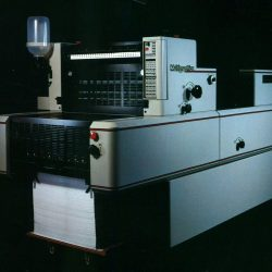 A picture of an industrial duplicator designed by Jay Tinen
