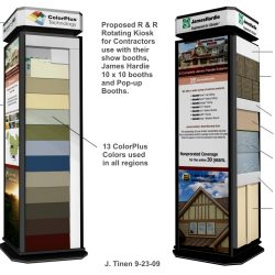 Rendering of Product Display Kiosks built for over 100 dealer showrooms.